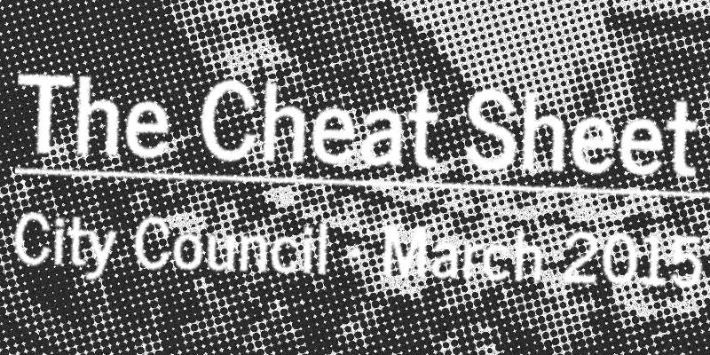 The Cheat Sheet: March 31 City Council